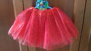 Tutu-Elastique-Brillant-Rouge-pour-Filles-Fete-Deguisement-Ballet-Danse-22-36-CM