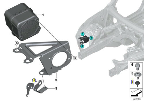 BMW Caoutchouc Anti-Vibration Montage Tampon bump stop Pad 52531230319