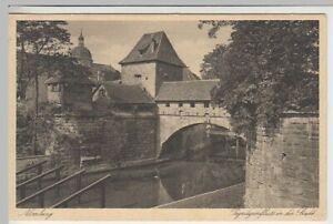 41462-AK-Nuernberg-Pegnitzeinfluss-in-die-Stadt-vor-1945