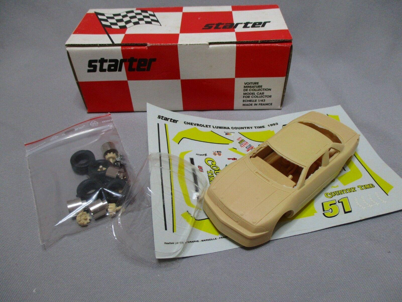 AI332 STARTER 1 43 CHEVROLET LUMINA COUNTRY TIME 1994 CHE047 KIT RESINE A MONTER