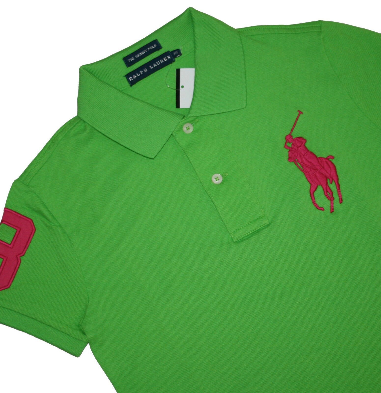 Ralph Lauren donna Big Pony stretch the SKINNY POLO MAGLIA POLO TG. XS