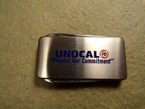 Vintage Unocal 76 Advertising Knife Money Clip by BARLOW Service Station Gas Oil