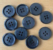 Farbwahl 0,45 rund 4-loch 10 Kunststoff-Knöpfe 25,2mm Knopf matt glänzend