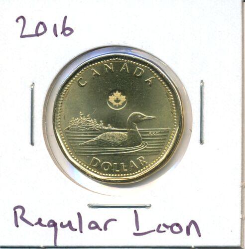 BU Coin 2016 Canada Loonie Regular Loon Variety