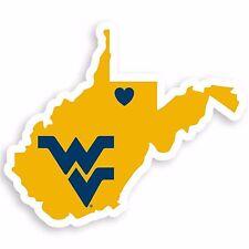 NCAA West Virginia Mountaineers Home State Auto Car Window Vinyl Decal Sticker