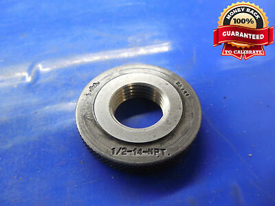 "1//2 14 NPT L1 PIPE THREAD RING GAGE .5 1//2/""-14 QUALITY INSPECTION TOOL"
