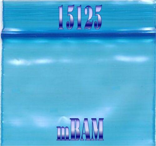 """100 PACK BLUE 12510 Apple Ziplock Baggies 1.25X1.0/"""" Mini Bags Colored Baggies"""