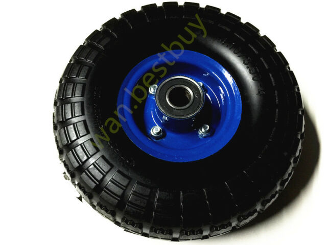 1 pc  HAND TROLLEY WHEEL WHEELS TYRE RIM 19MM BORE PUNCTURE PROOF NO MORE FLAT