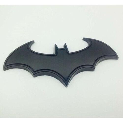 3D Black Metal Bat Batman Auto Car Sticker Logo Badge Emblem Decal