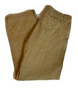 American Eagle Oscuro Pantalones De Color Caqui Tamano De Hombre Relaxed Fit 34x30 Frente Plano Informal Ebay