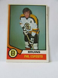 1974-75 OPC O-Pee-Chee Card #200 Phil Esposito - Boston Bruins