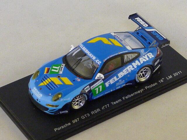 Spark S3418 - Porsche 997 GT3 RSR N°77 Felbermayr Prossoon Le mans 2011 1 43