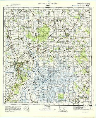 Map Of Vechta Germany.Russian Soviet Military Topographic Maps Vechta Germany 1 50 000 Ed 1975 Ebay