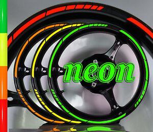 ░▒▓█ FELGENRANDAUFK<wbr/>LEBER Moto GP 16 Zoll NEON █▓▒░ Felgenaufklebe<wbr/>r Motorrad Auto