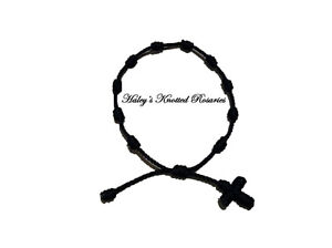 Knotted-Rosary-Bracelet-Black-Great-Guarantee