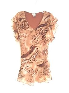 Women-039-s-Embellished-Printed-Plus-Size-Short-Sleeve-Tunic-Top-Blouse-NWT-1X-2X-3X