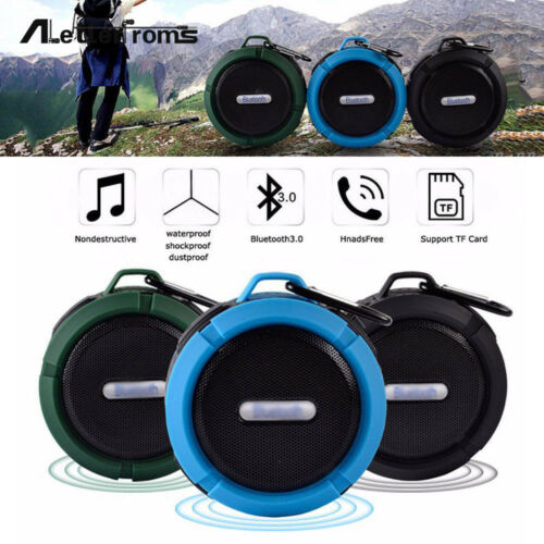 Wireless Bluetooth Handsfree Waterproof Mic Suction Mini Speaker Shower Bath CDP