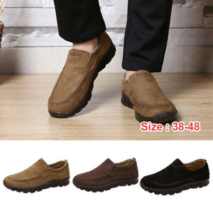 Fashion-Men-039-s-Casual-Driving-Shoes-Breathable-Antiskid-Loafers-Slip-on-Moccasins