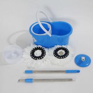 360-Rotating-Easy-Magic-Floor-Mop-amp-Bucket-amp-2-Microfiber-Head-Spinning-Mop