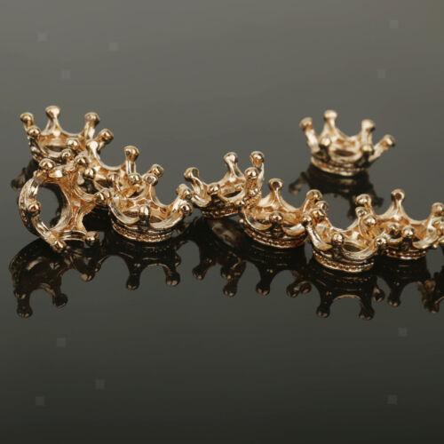 10er Set Krone Charms Anhänger Schmuckanhänger Zwischenring Spacer Beads