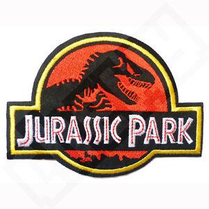 Jurassic Park Logo Iron Sew on Patch Badge Transfer Fancy Dress Costume Cosplay