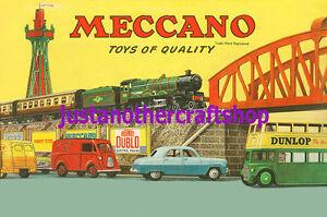 Meccano-Hornby-Dinky-1957-Grande-A3-tamano-poster-anuncio-Cartel-Folleto-de-alta-calidad