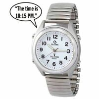 Atomic Talking Analog Watch For The Blind W/alarm,speaks Time, Day,date