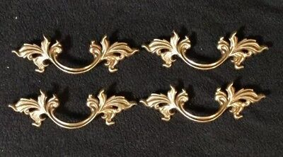"""French Provincial Drawer Pulls 3/"""" Lot Of 6 Belwith Keeler Brass NEW Handle Gold"""