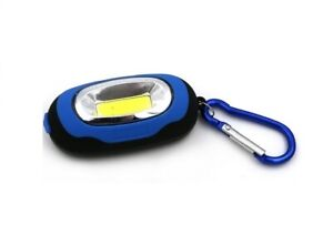 LED-COB-Keychain-Light-Carabiner-Work-Flashlight-Safety-Mini-Outdoor-Camping-AU