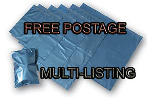 Metallic-Blue-Plastic-Poly-Mailing-Bags-Postal-Mailers-Durable-Self-Seal-Flap