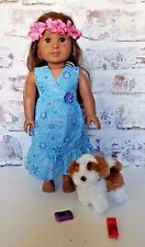 "2011 American Girl KANANI 18"" Doll of the Year Brown Hair Green Hazel Eye"