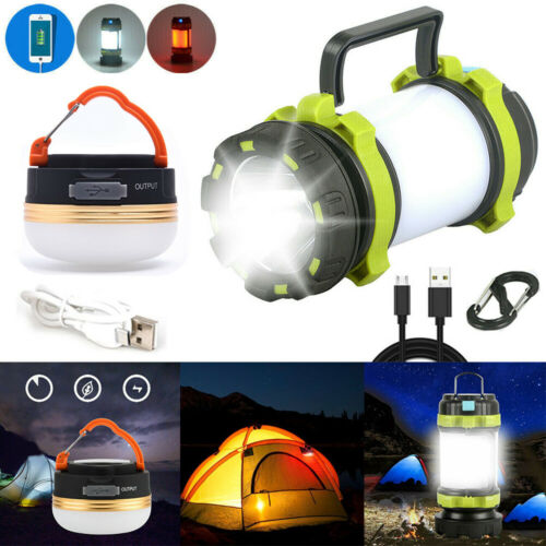 300LM USB Rechargeable LED Camping Tent Lantern Night Light Outdoor Lamp Bright