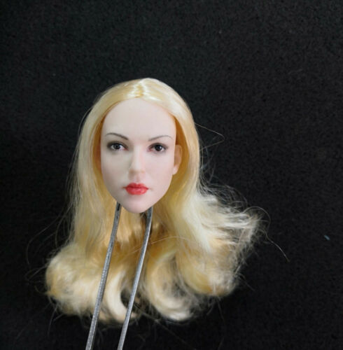 Yellow Hair 1//6 Female Head Melissa Benoist Supergirl Sculpt Carved Toy No Body
