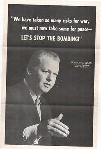 1968-ANTI-VIETNAM-WAR-Illinois-Political-Poster-WILLIAM-CLARK-US-SENATE-Chicago