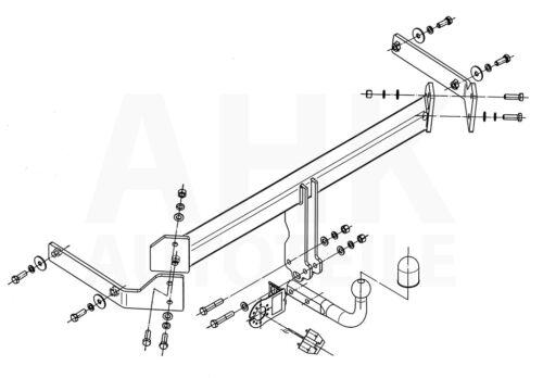 Für Mazda CX-7 07-12 Anhängerkupplung starr+ES 13p spez AHK Kpl.