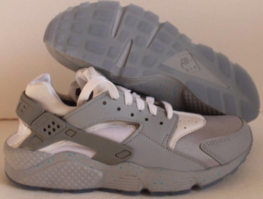 Nike air huarache uomini premio id grey... bianca sz 7,5