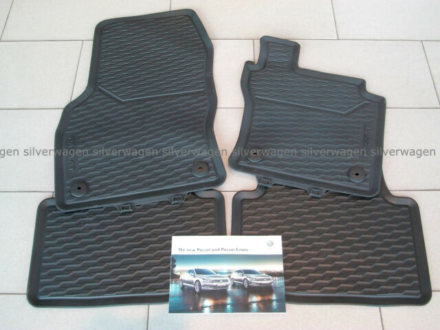 Genuine VW Passat 2015 Onwards Front and Rear Rubber Floor Mat Set **BRAND NEW**