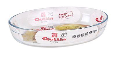 QUTTIN Glass Oven Roasting Baking Lasagne TRAY OVAL DISH 39X27CM