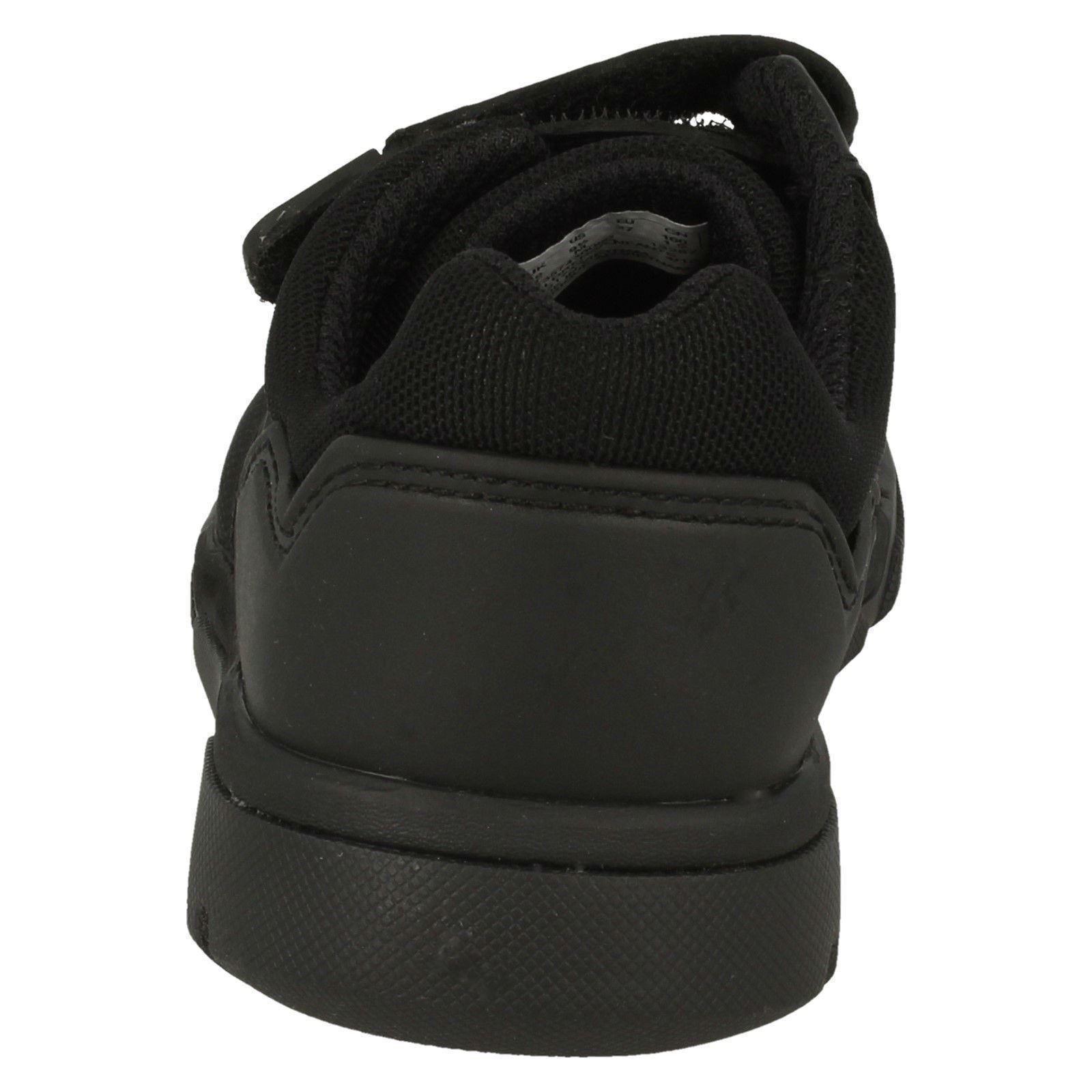 Boys Clarks Blake Street Black Leather