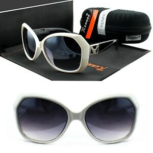 Grosse-Damen-Sonnenbrille-Schmetterling-Eckig-Schwarz-Weiss-Lila-Rennec-VD2-BOX
