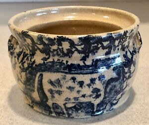 Becky-Mummert-Crock-Stoneware-Pottery-Sugar-Bowl-Spongeware-PH0497
