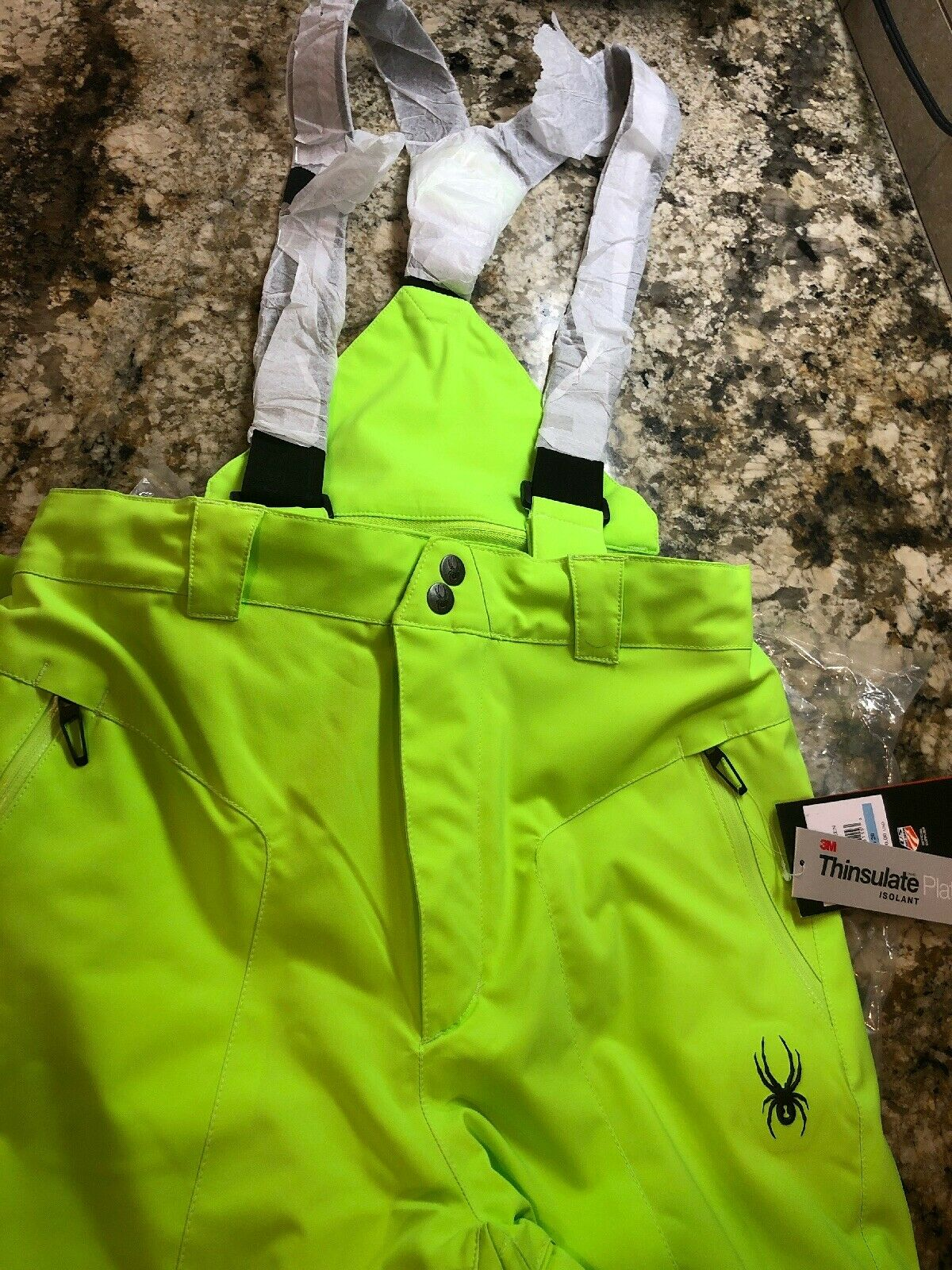 NEW   190 BOYS SPYDER SKI   SNOWBOARD  BORMIO  INSULATED PANTS BIBS  wholesale price and reliable quality