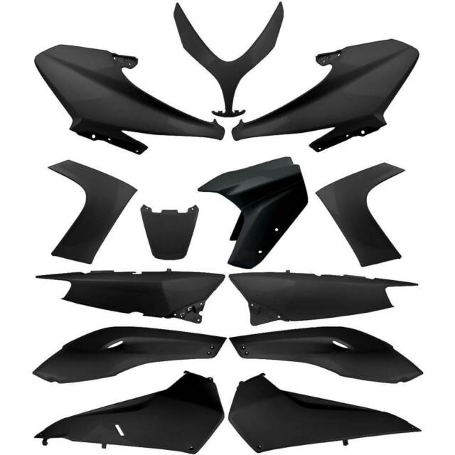 Set 13 Piezas Cáscara Carenado Negro Brillante Yamaha 500 XP T-Max Sj031