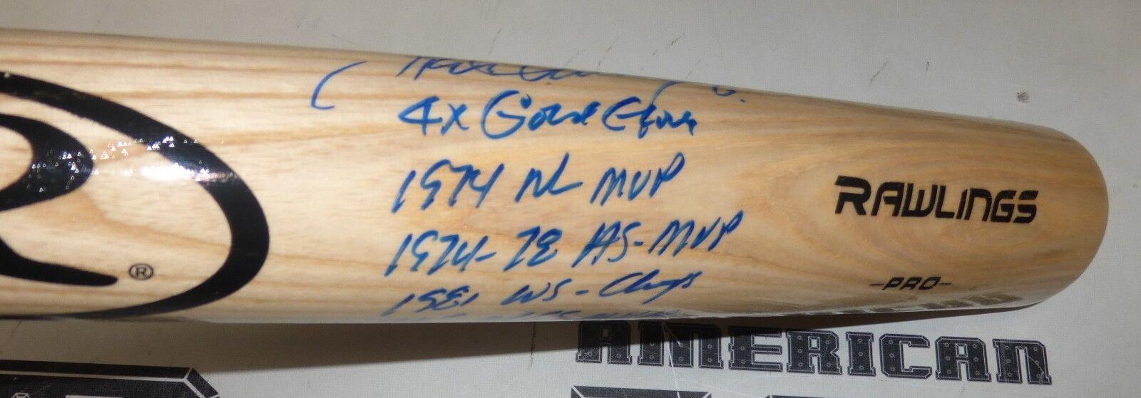 Steve Garvey Firmado 12x Stat Bate Bate Bate Béisbol PSA DNA COA Dodgers Autógrafo Padres ae711d
