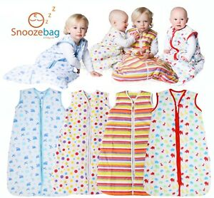 Snoozebag Baby Sleeping Bag 100% Cotton 2.5 Tog 2017 Version - Clearance Sale!