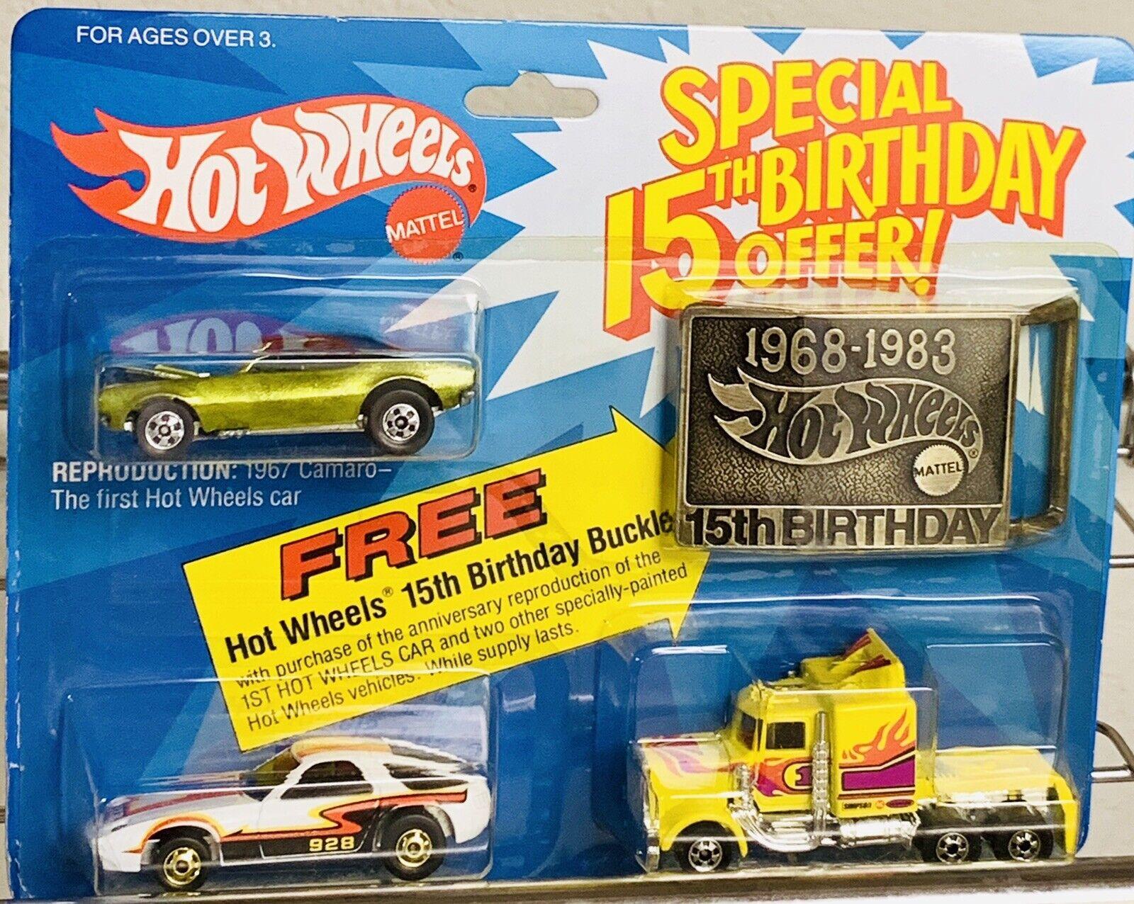 artículos de promoción Hot Hot Hot Wheels negrowall Oferta Especial 15th Cumpleaños 3 Paquete de 1982 Sellado Excelente   precios mas bajos
