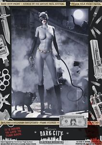 Catwoman-SEXY-DC-Animated-Universe-Gotham-Dark-City-Var-Signed-A3-Comic-Print