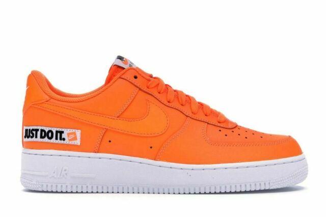 Nike Air Force 1 07 Low Jdi Just Do It Bq5360 800 Total Orange Sz 10 5