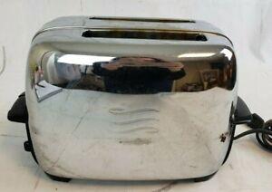 Vtg-General-Electric-GE-Chrome-amp-Bakelite-2-Slice-Toaster-Model-92T82-Tested-GL6