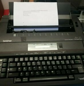 Brother AX-25 Electronic Typewriter - Tested Works but no display.